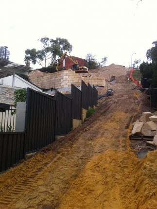 Superb ABOVE: The Sandy Slope Needed Some Very Strong Retaining Walls.