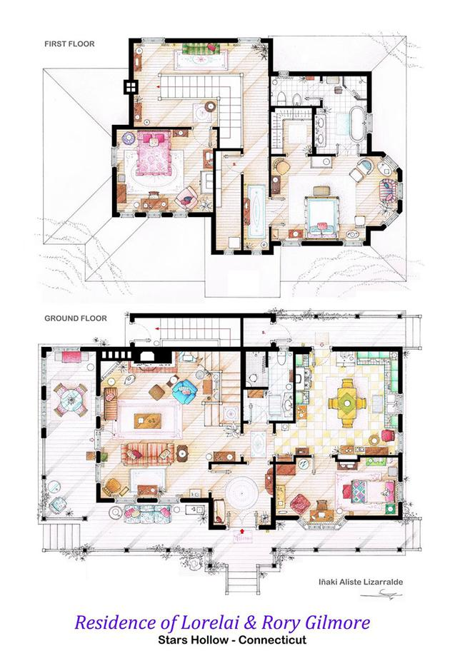 Famous Tv Show Floor Plans House Nerd