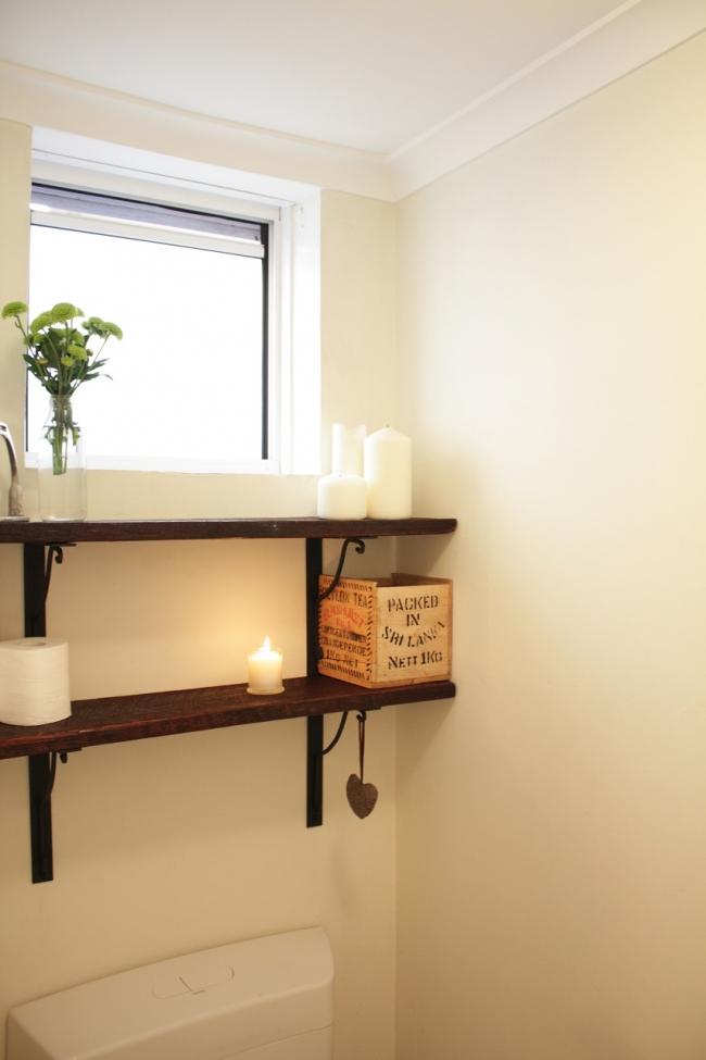 Dare to DIY: Reclaimed Wood Toilet Shelves | House Nerd