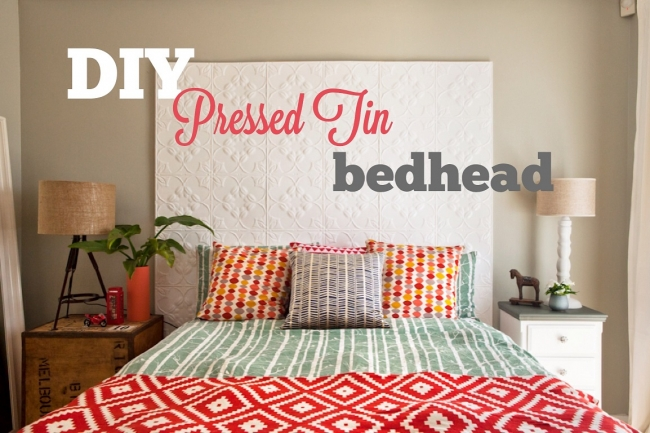 DIY How To: Pressed Tin Bedhead... And WIN A Forty Winks Silent Partner Bed  | House Nerd