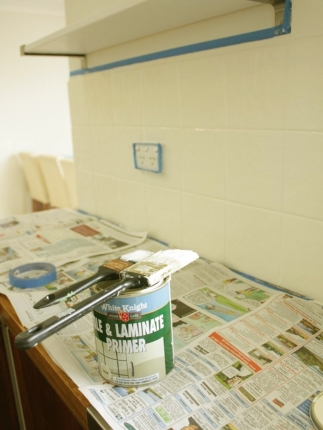 Our Budget Kitchen Makeover How To Paint Splashback Tiles House Nerd
