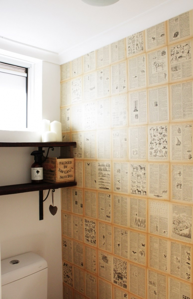 Easy Diy Book Page Wallpaper House Nerd