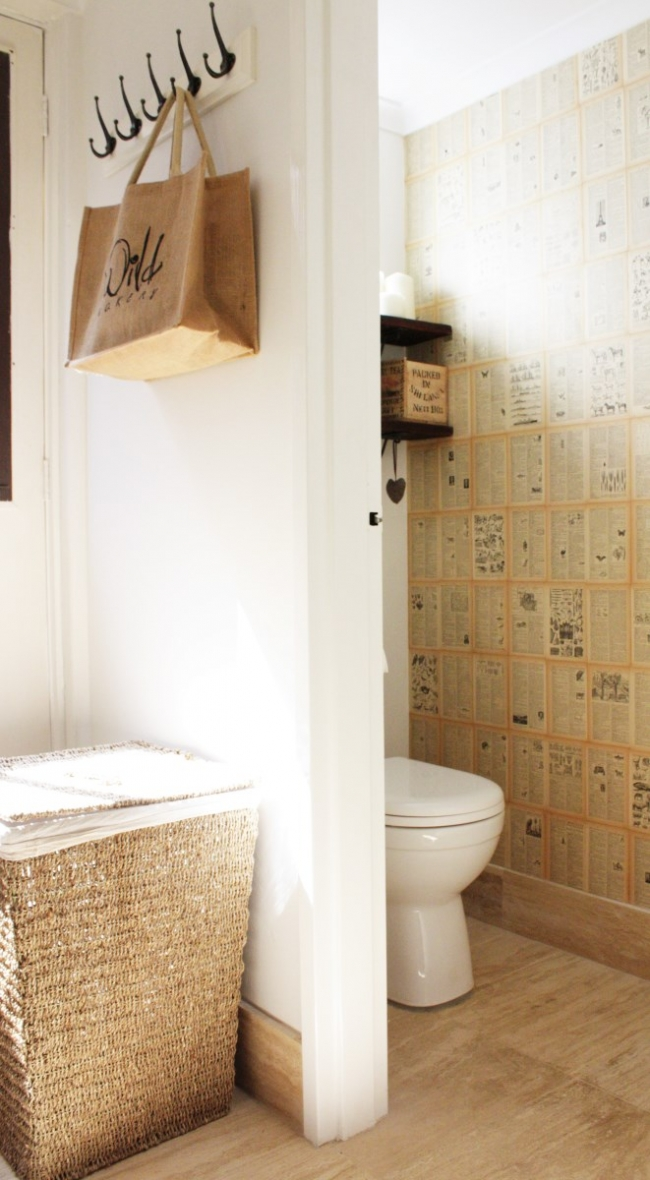 Remarkable Easy Diy Book Page Wallpaper House Nerd Evergreenethics Interior Chair Design Evergreenethicsorg